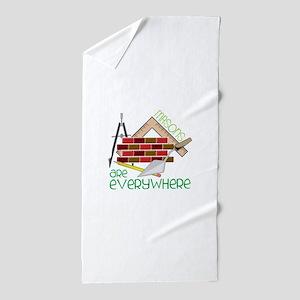 Masons Are Everywhere Beach Towel