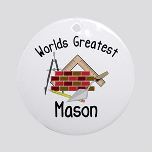 Worlds Greatest Mason Ornament (Round)