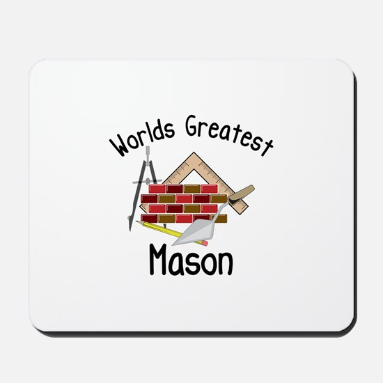 Worlds Greatest Mason Mousepad