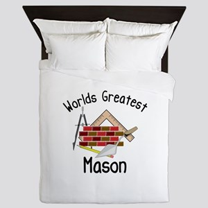 Worlds Greatest Mason Queen Duvet