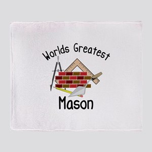 Worlds Greatest Mason Throw Blanket