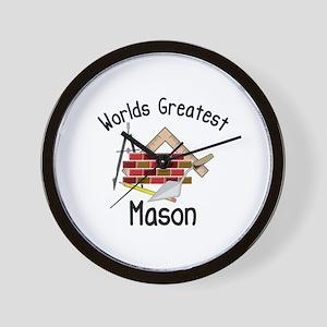 Worlds Greatest Mason Wall Clock