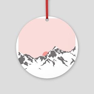 Mountain Sunrise Ornament (Round)