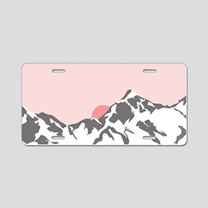 Mountain Sunrise Aluminum License Plate