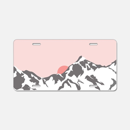 Mountain Sunrise Aluminum License Plate