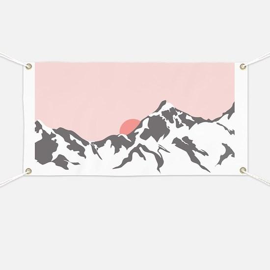 Mountain Sunrise Banner