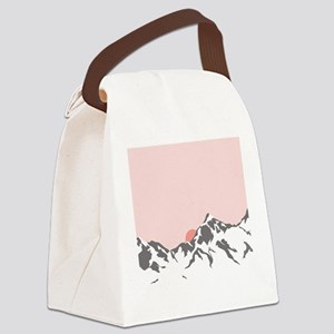 Mountain Sunrise Canvas Lunch Bag