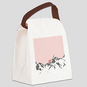 Mountain Sunrise Canvas Lunch Bag