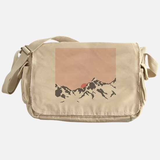 Mountain Sunrise Messenger Bag
