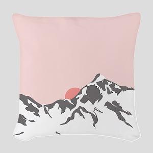 Mountain Sunrise Woven Throw Pillow