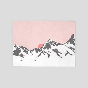 Mountain Sunrise 5'x7'Area Rug