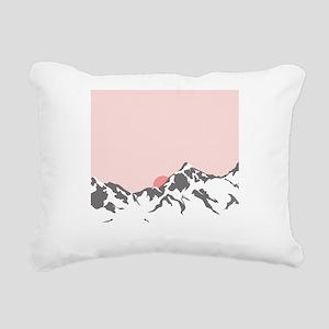 Mountain Sunrise Rectangular Canvas Pillow