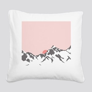 Mountain Sunrise Square Canvas Pillow
