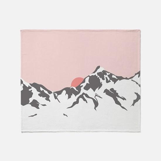 Mountain Sunrise Throw Blanket