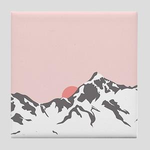 Mountain Sunrise Tile Coaster