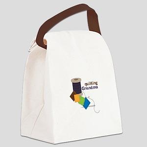Quilting Grandma Canvas Lunch Bag