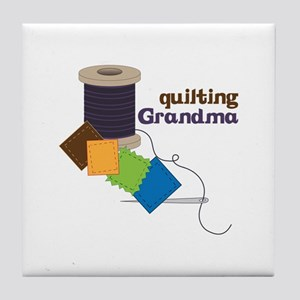 Quilting Grandma Tile Coaster