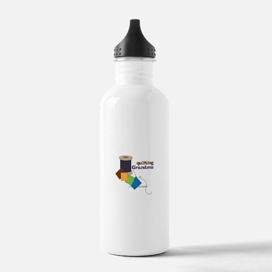 Quilting Grandma Water Bottle