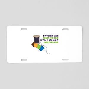 Stitches Aluminum License Plate