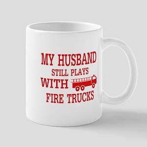 Husband Plays With Fire Trucks Mugs