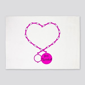 Ball and Chain love 5'x7'Area Rug