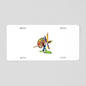 Artist Color Palette Aluminum License Plate