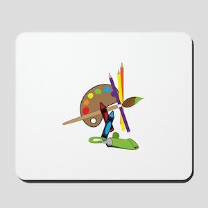 Artist Color Palette Mousepad