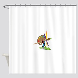 Artist Color Palette Shower Curtain