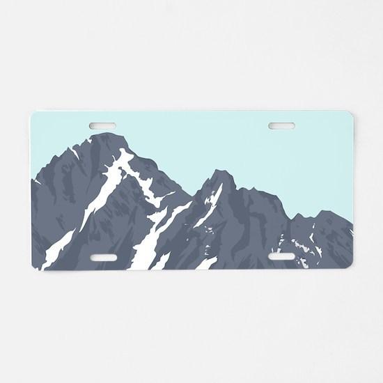 Mountain Peak Aluminum License Plate