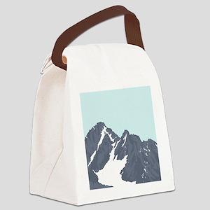 Mountain Peak Canvas Lunch Bag