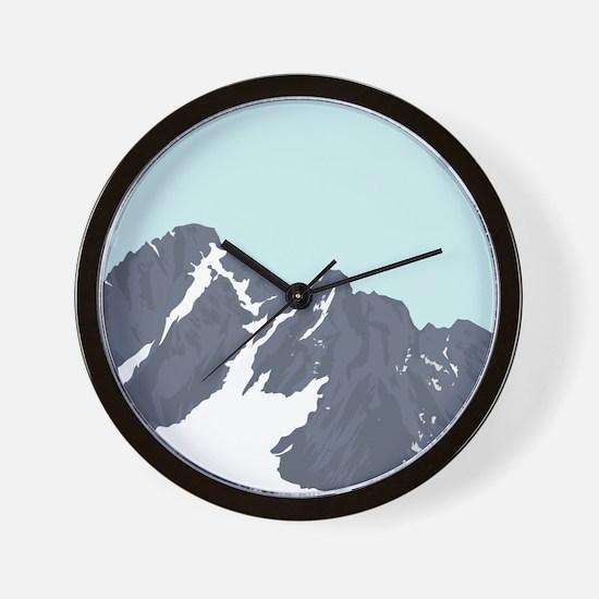 Mountain Peak Wall Clock