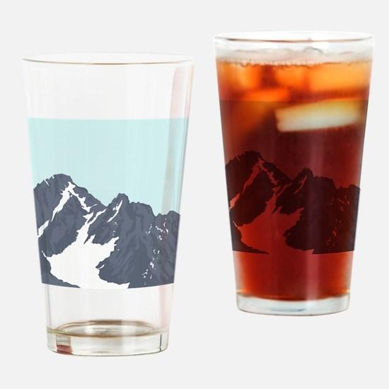 Mountain Peak Drinking Glass