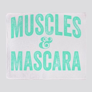Muscles and Mascara Throw Blanket
