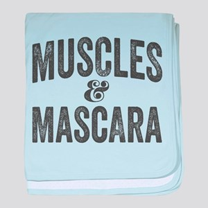 Muscles and Mascara baby blanket