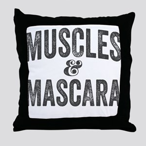 Muscles and Mascara Throw Pillow