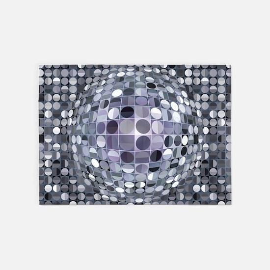 optical illusion rug area monochrom sphere rugs illusions x7 outdoor favorite