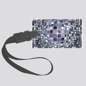 Optical Illusion Sphere - Monoch Large Luggage Tag