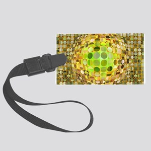 Optical Illusion Sphere - Yellow Large Luggage Tag