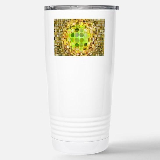 Optical Illusion Sphere Stainless Steel Travel Mug