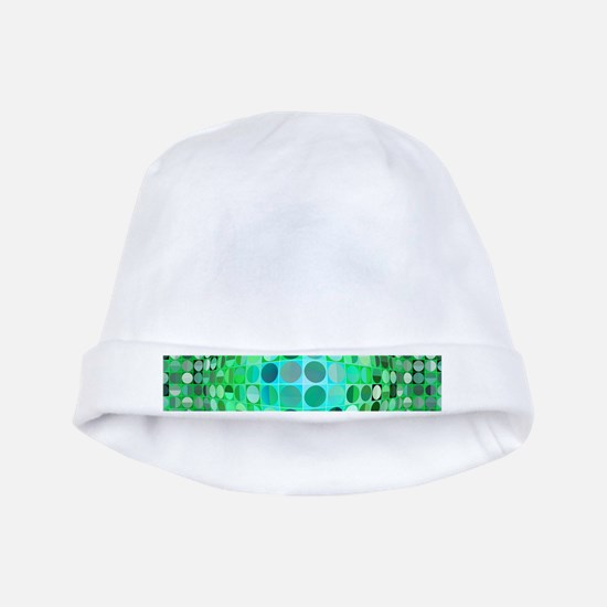 Optical Illusion Sphere - Green baby hat