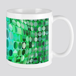 Optical Illusion Sphere - Green Mug