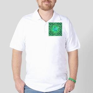 Optical Illusion Sphere - Green Golf Shirt