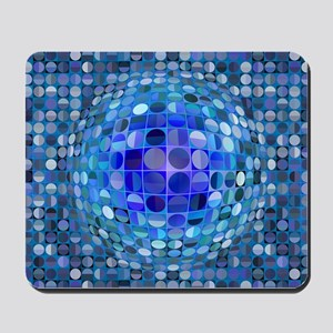 Optical Illusion Sphere - Blue Mousepad