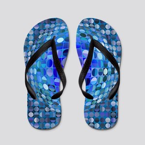 Optical Illusion Sphere - Blue Flip Flops
