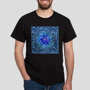 Optical Illusion Sphere - Blue Dark T-Shirt
