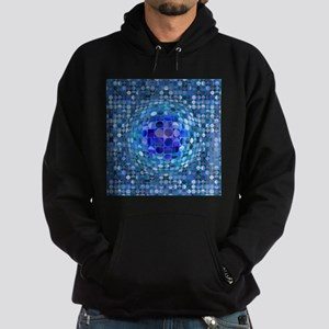 Optical Illusion Sphere - Blue Hoodie (dark)