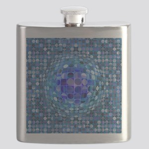 Optical Illusion Sphere - Blue Flask