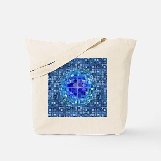 Optical Illusion Sphere - Blue Tote Bag