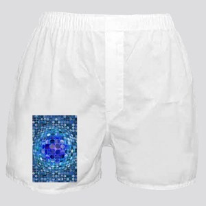 Optical Illusion Sphere - Blue Boxer Shorts