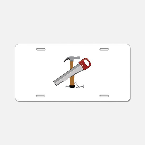 Tool Time Aluminum License Plate